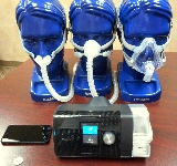 CPAP machine device and nasal CPAP mask